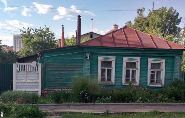 Traditional wooden houses near Saransk city centre