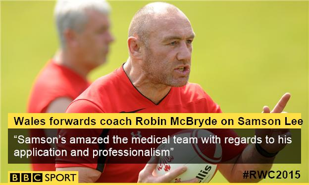 Robin McBryde on Samson Lee