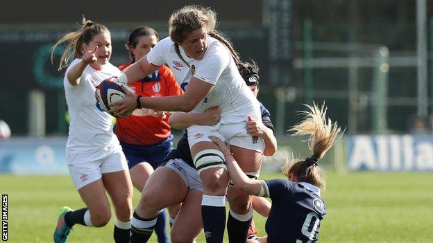 Women's Six Nations final, England v France: Poppy Cleall to start in place of Sarah Hunter thumbnail