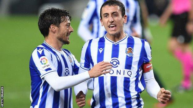 David Silva and Mikel Oyarzabal