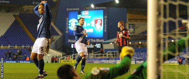 James Vaughan misses penalty