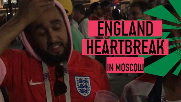 102496280 p06dk5zl - World Cup 2018: How England followers in Moscow reacted to semi-final in opposition to Croatia