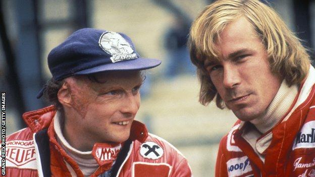 Niki Lauda and James Hunt