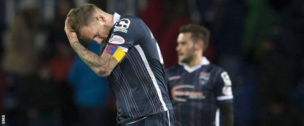 Ross County player Martin Woods