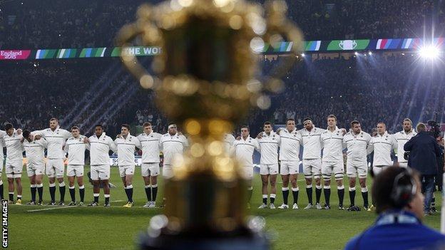 England and the Webb Ellis Trophy
