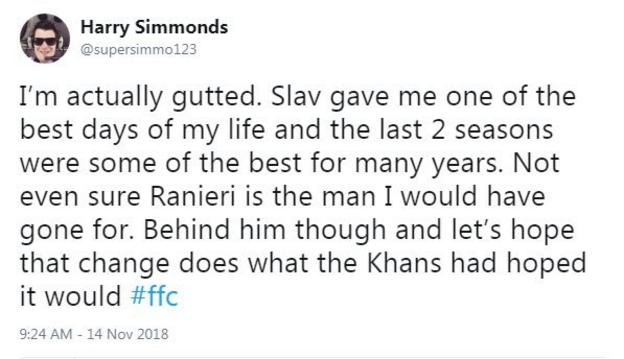 Reaction from Fulham fan: Slav gave me one of the best days of my life