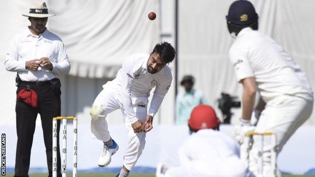 Spin bowler Rashid Khan took five wickets in Ireland's second innings