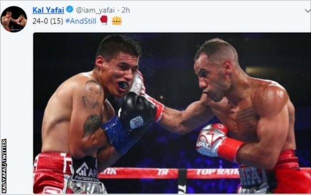 Kal Yafai tweeted a picture of the fight