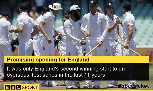 England win the first Test