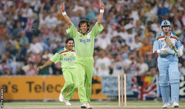 Pakistan captain Imran Khan