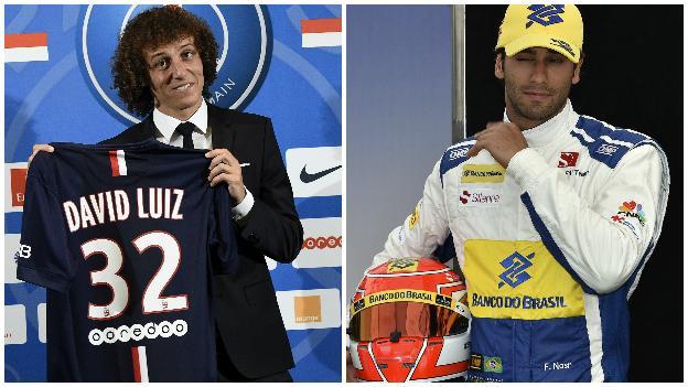 David Luiz and Felipe Nasr