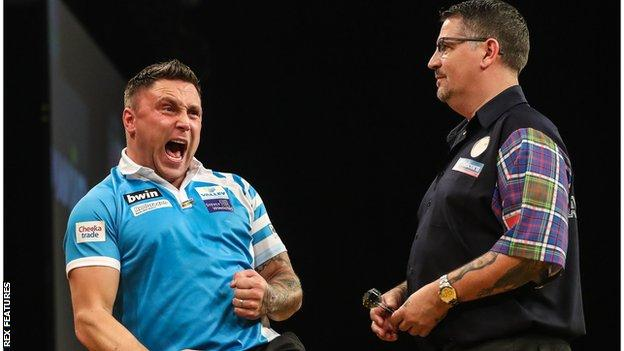 Gerwyn Price and Gary Anderson