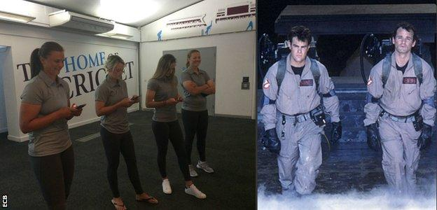 World Cup players and Ghostbusters