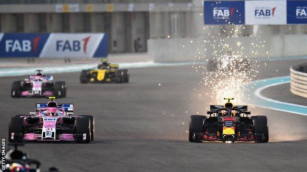 Esteban Ocon and Max Verstappen