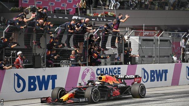 Red Bull celebrate Max Verstappen's Austrian Grand Prix victory
