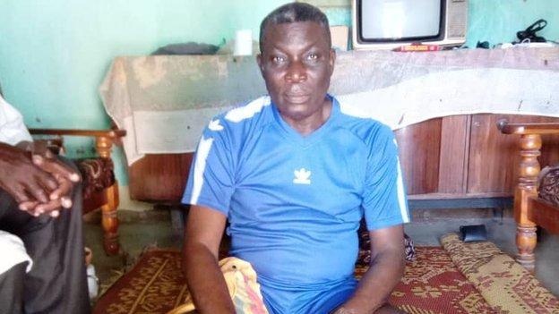 Former Togo goalkeeper Nibombe Wake