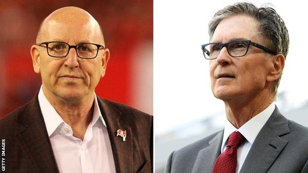 Joel Glazer (left) and John W Henry