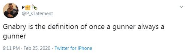 Serge Gnabry tweet