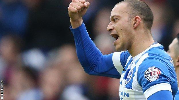 Brighton striker Bobby Zamora