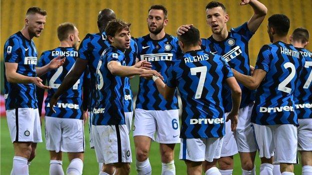 Inter Milan celebrate