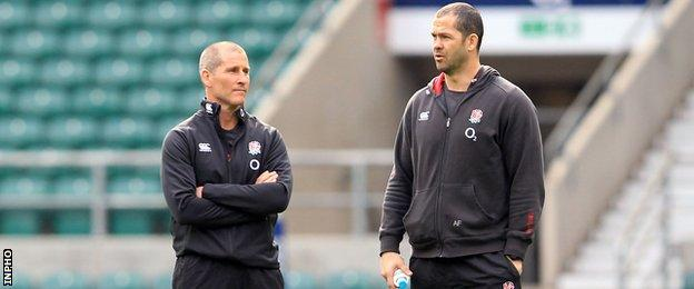 Stuart Lancaster and Andy Farrell during their time in charge of England