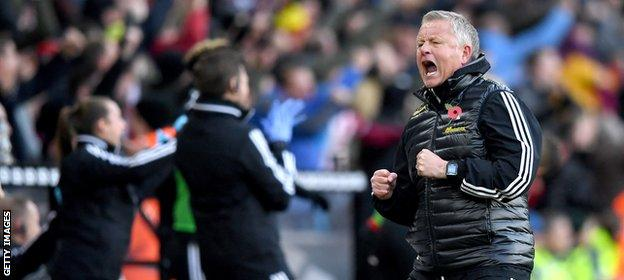 Chris Wilder led Sheffield United to second place in the Championship last season