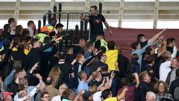 West Ham crowd disturbance