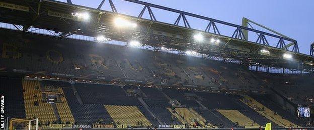 Borrusia Dortmund's huge Westfalenstadion