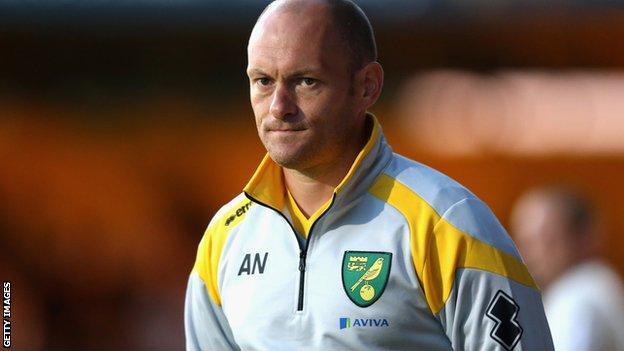 Norwich City manager Alex Neil stalks the touchline
