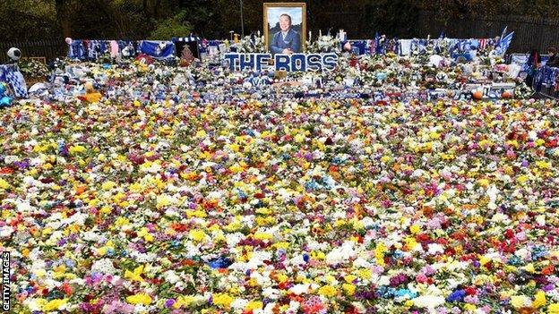Flowers left in tribute to late Leicester owner Vichai Srivaddhanaprabha following his death
