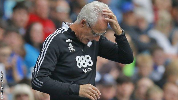 Mick McCarthy reacts as they lose 5-1 at Blackburn Rovers