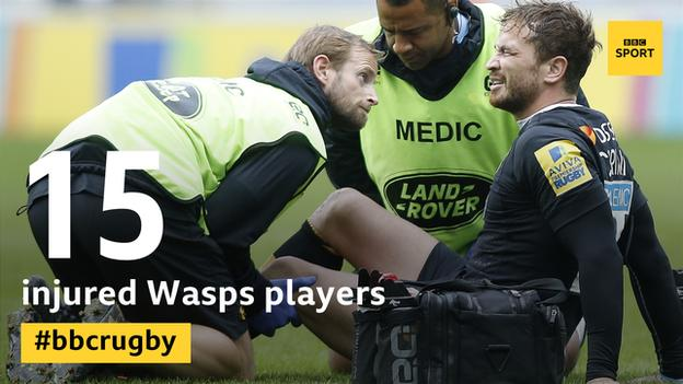 Medics tend to an injured Danny Cipriani