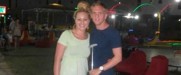 Gemma Porteous and Dean Brett on holiday