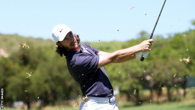 Tommy Fleetwood in round two at the Nedbank Golf Challenge