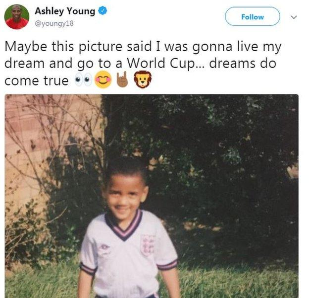 Ashley Young tweet