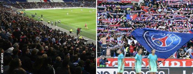 Lyon (left) and PSG