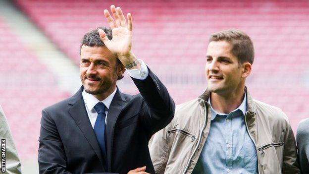 Luis Enrique and Robert Moreno