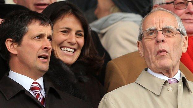 Stoke City chief executive Tony Scholes and chairman Peter Coates