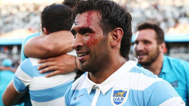 Newcastle's new Argentina centre Matias Orlando was part of the Pumas side who beat New Zealand in the Tri-Nations in Sydney in November
