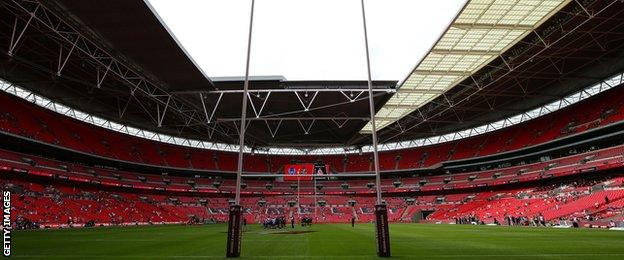 Wembley before the 2015 Challenge Cup final