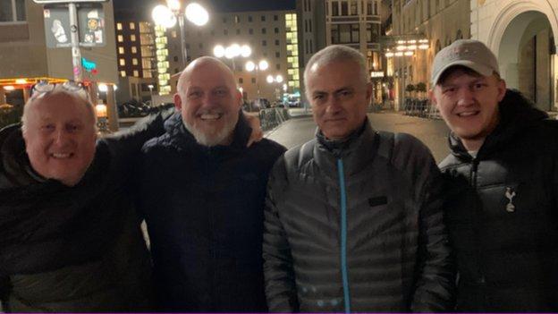 Jose Mourinho with Dave, Joe and Quinny