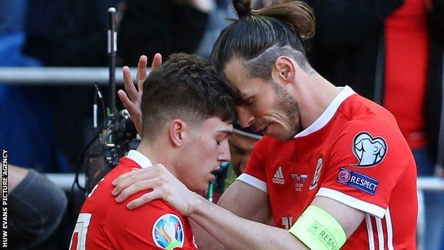 Daniel James and Gareth Bale