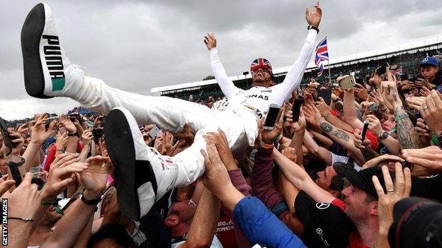 Lewis Hamilton wins the British Grand Prix in 2017