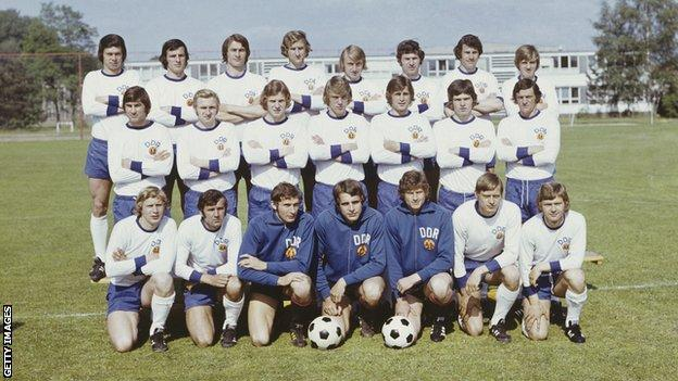 East Germany's team in 1974