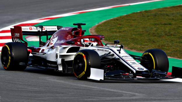 Kimi Raikkonen driving the new Alfa Romeo