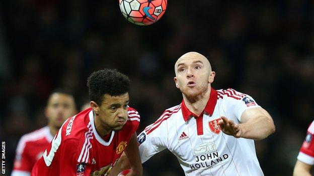 Conor Sammon (right) in action for Sheffield United