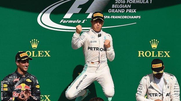 Nico Rosberg wins at Spa