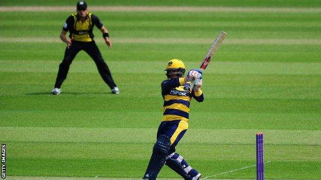 Glamorgan all-rounder Graeme Wagg was run out for 49 at Cardiff before bouncing back to take the first two Gloucestershire wickets