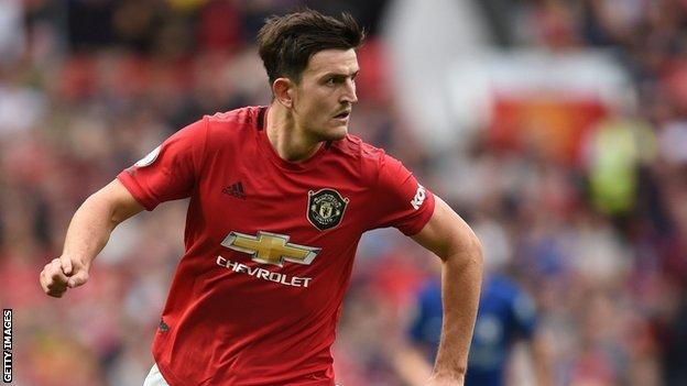 Harry Maguire was named the man of the match