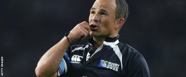 Referee Jaco Peyper